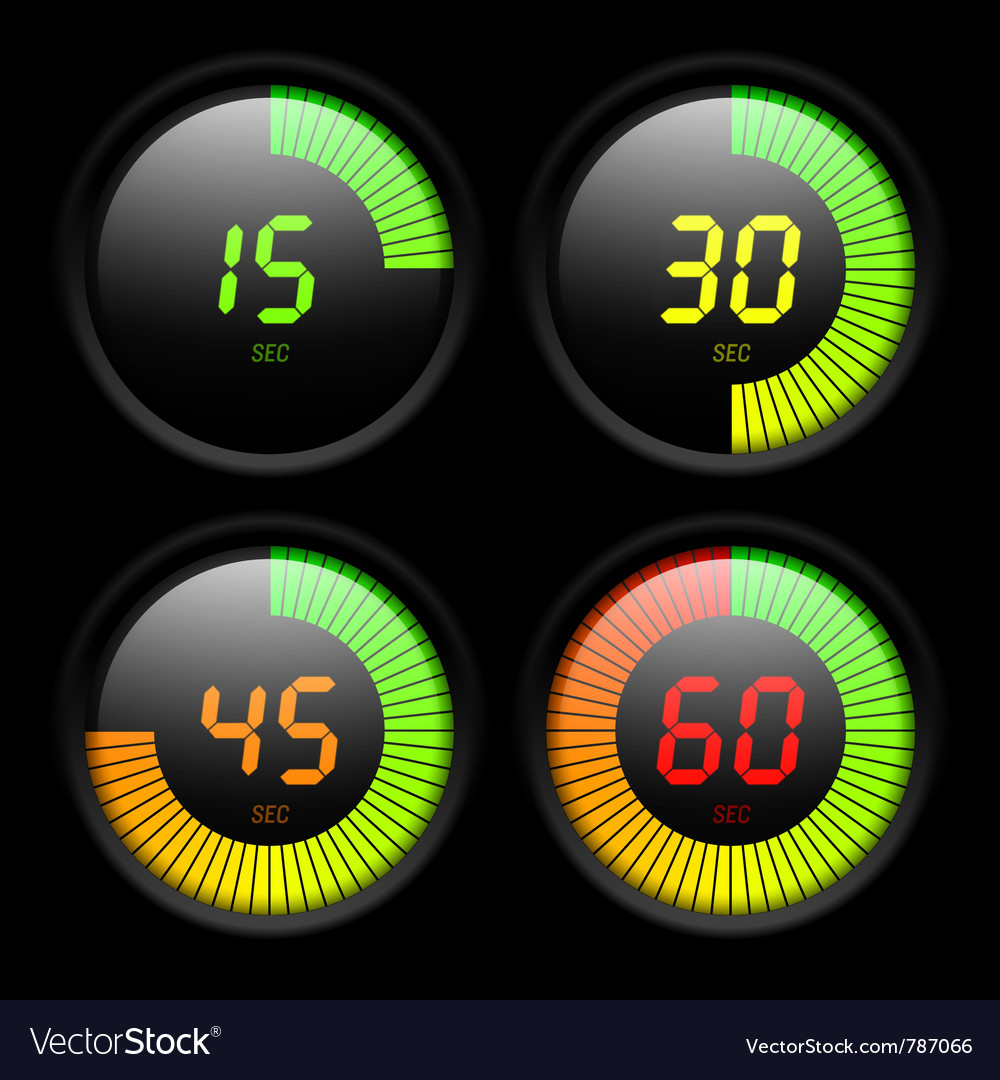 Digital timer vector | Price: 1 Credit (USD $1)
