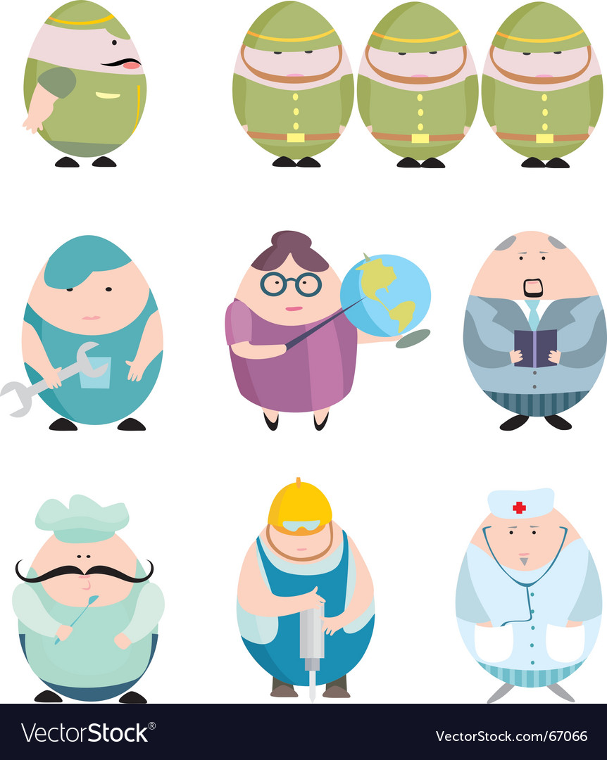 Egg shaped community vector | Price: 1 Credit (USD $1)