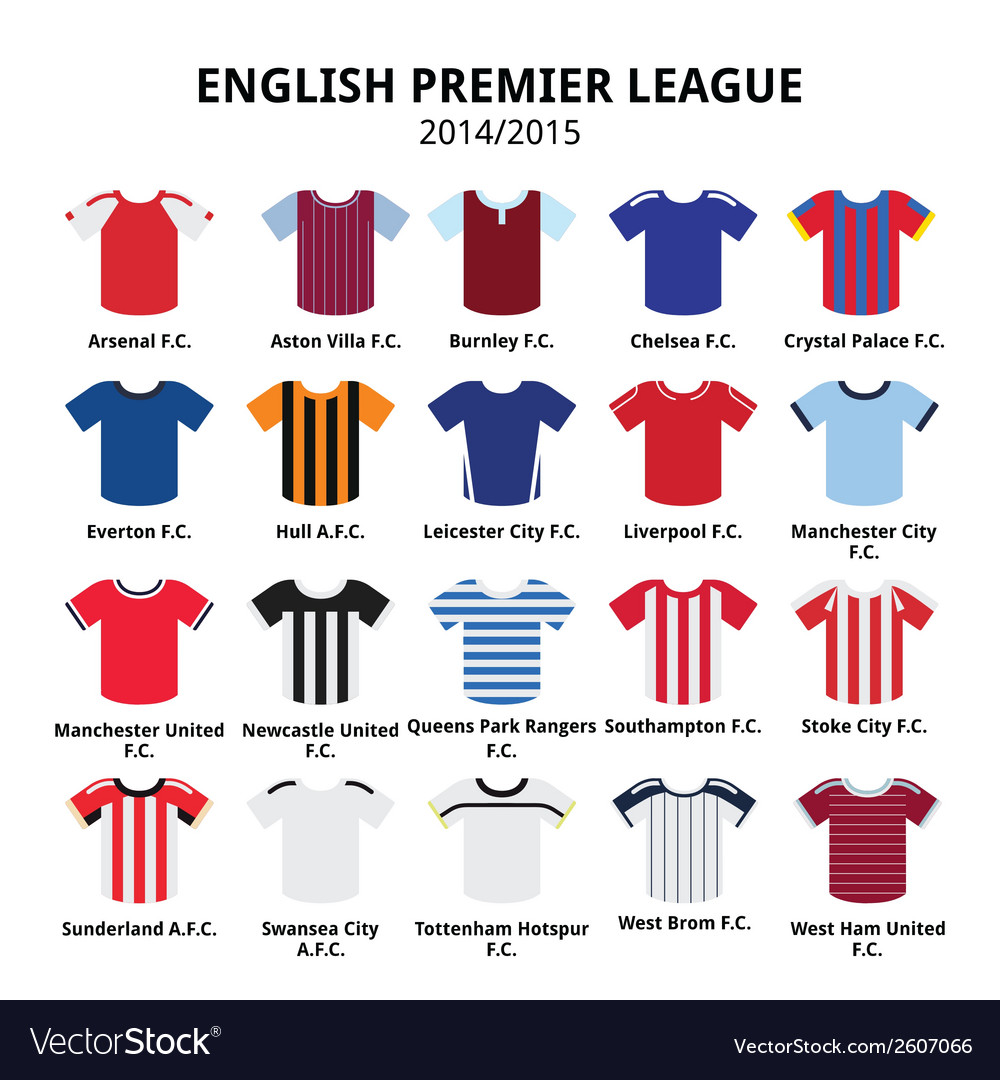 English premier league 2014 - 2015 football jersey vector | Price: 1 Credit (USD $1)