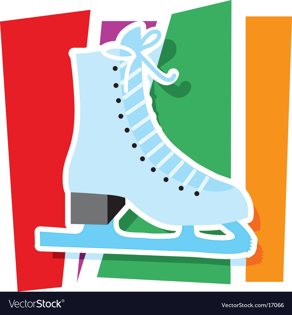 Ice skate graphic vector | Price: 1 Credit (USD $1)