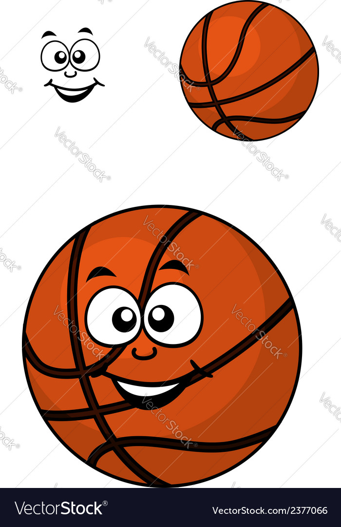 Isolated basketball ball with a happy face vector | Price: 1 Credit (USD $1)