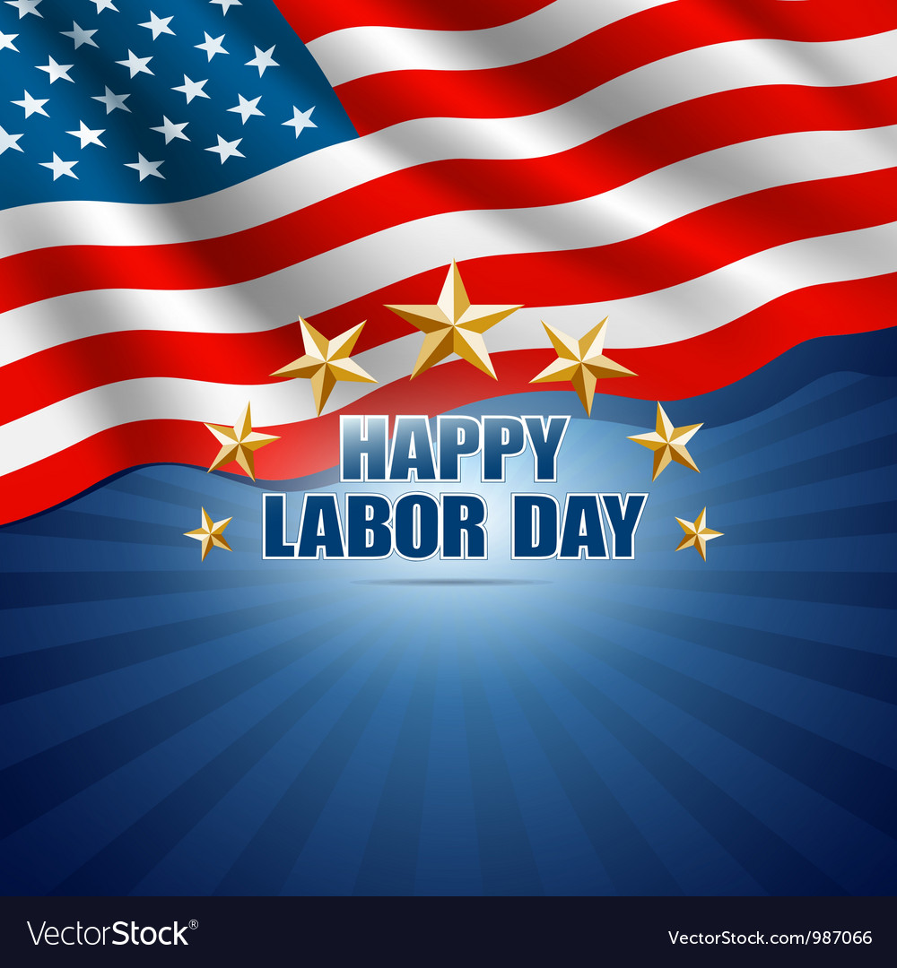 Labor day in the american background vector | Price: 1 Credit (USD $1)