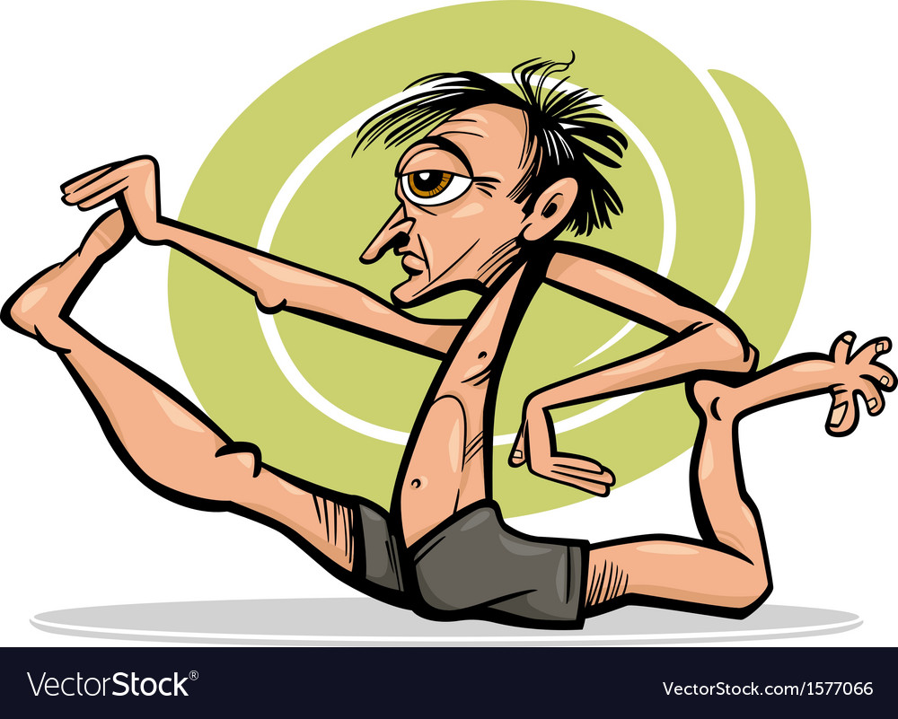 Man in yoga asana cartoon vector | Price: 1 Credit (USD $1)