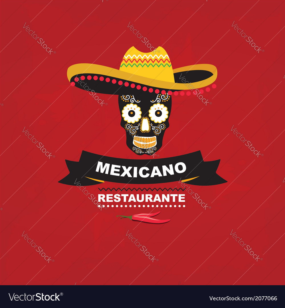 Menu mexican template design vector | Price: 1 Credit (USD $1)