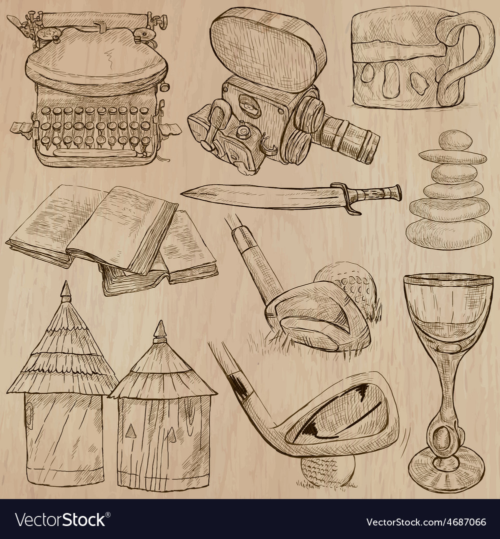 Objects - an hand drawn converted vector | Price: 3 Credit (USD $3)