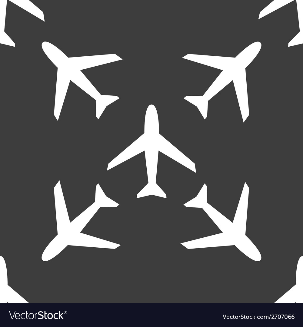 Plane web icon flat design seamless pattern vector | Price: 1 Credit (USD $1)