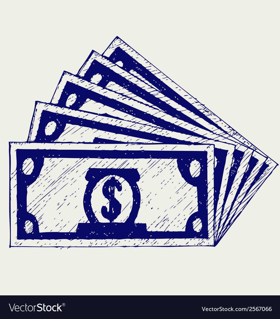 Stack of hundred dollars vector   Price: 1 Credit (USD $1)