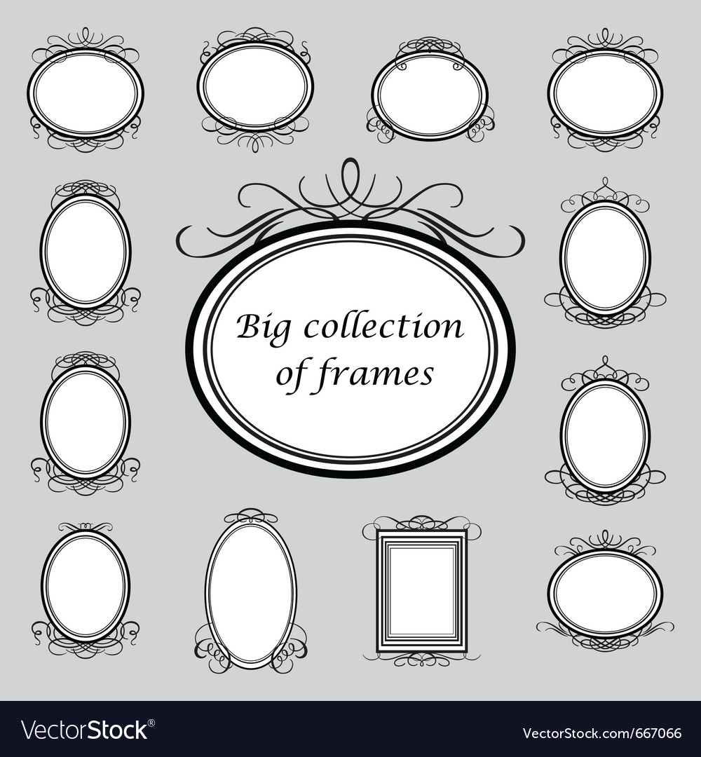 Vintage frame templates vector | Price: 1 Credit (USD $1)