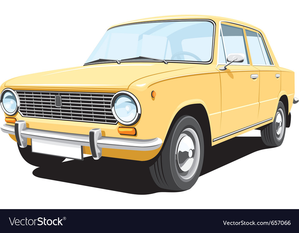 Yellow car vector | Price: 3 Credit (USD $3)
