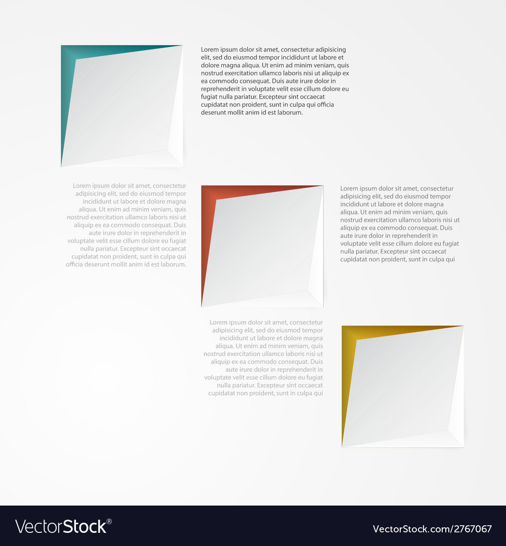3d banners and squares design vector | Price: 1 Credit (USD $1)