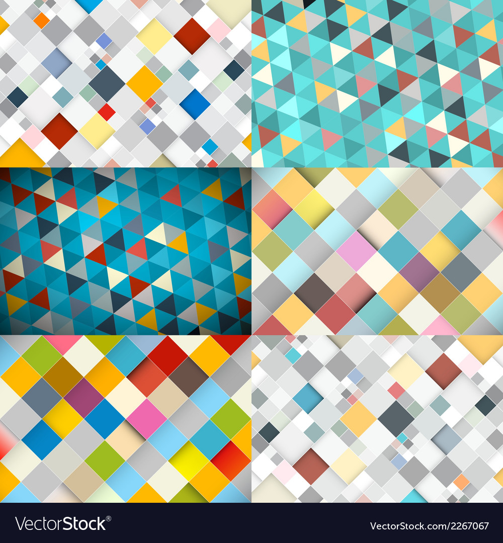 Abstract square and triangle background vector | Price: 1 Credit (USD $1)