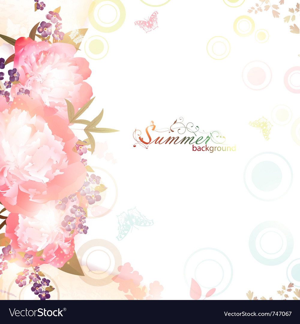 Abstract summer floral background vector | Price: 1 Credit (USD $1)