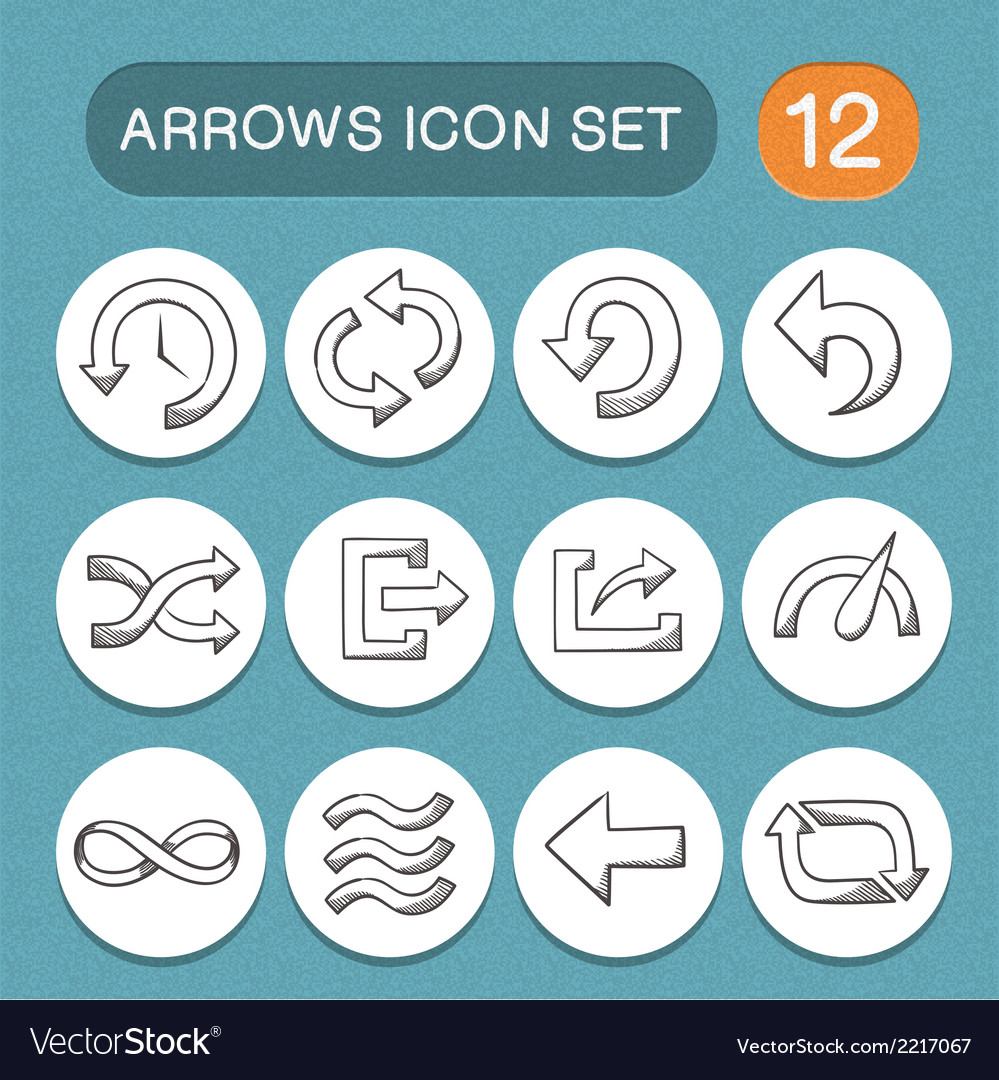 Arrows symbols set vector | Price: 1 Credit (USD $1)