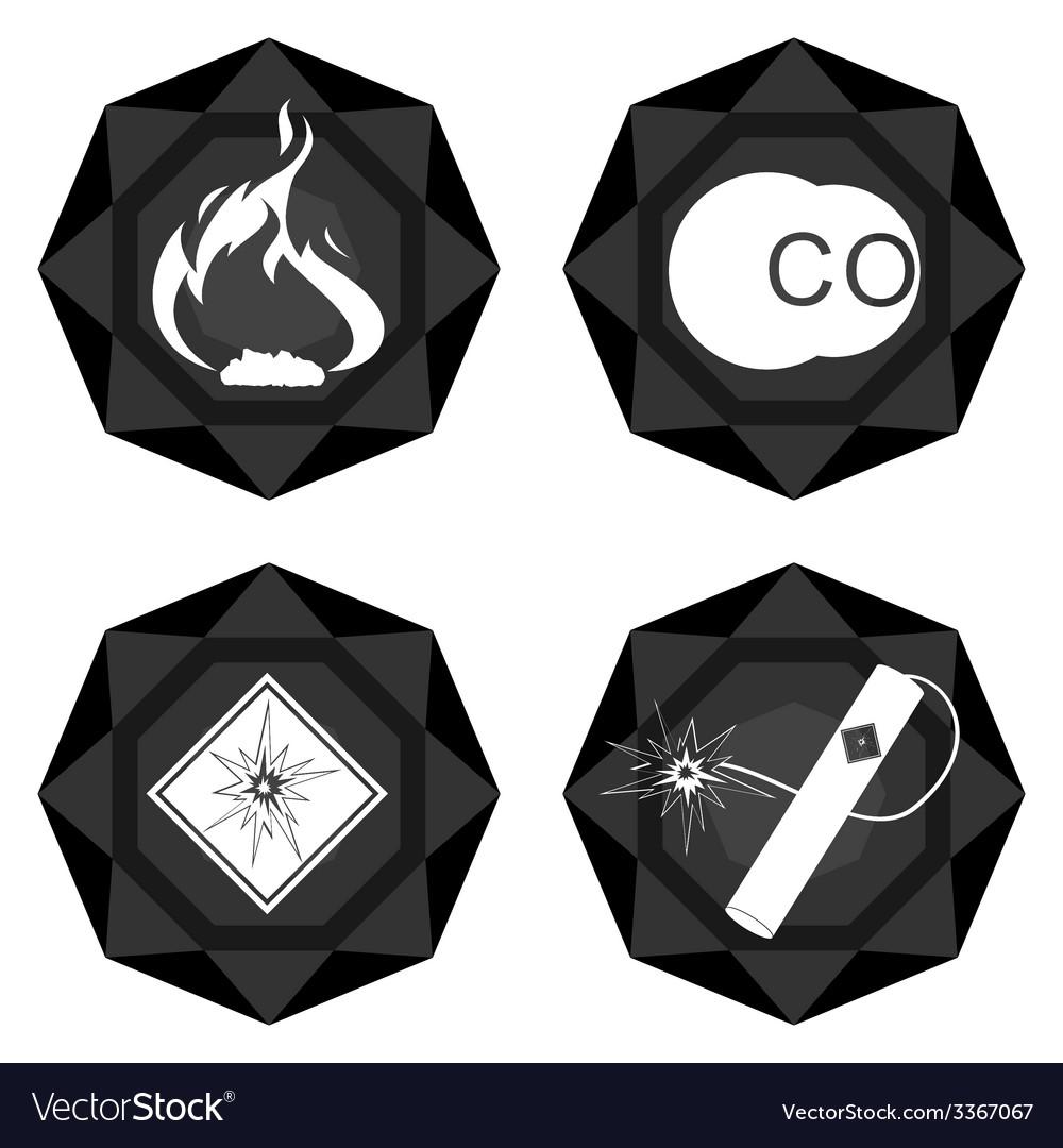 Badges coal industry 3 vector | Price: 1 Credit (USD $1)