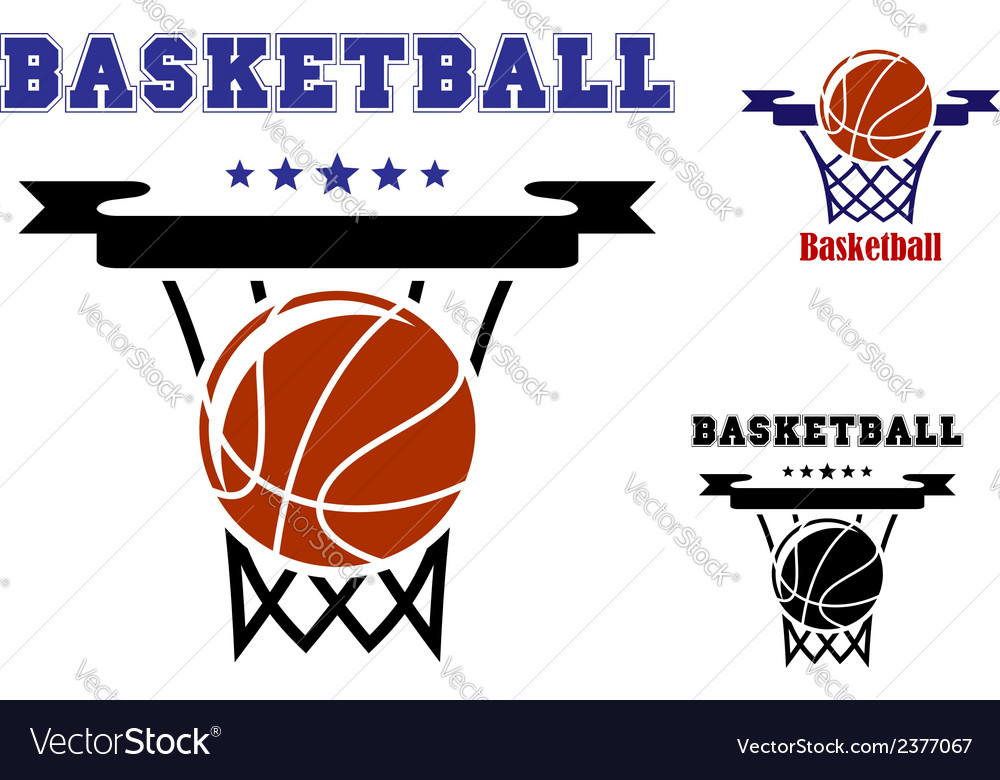 Basketball sports symbols vector | Price: 1 Credit (USD $1)