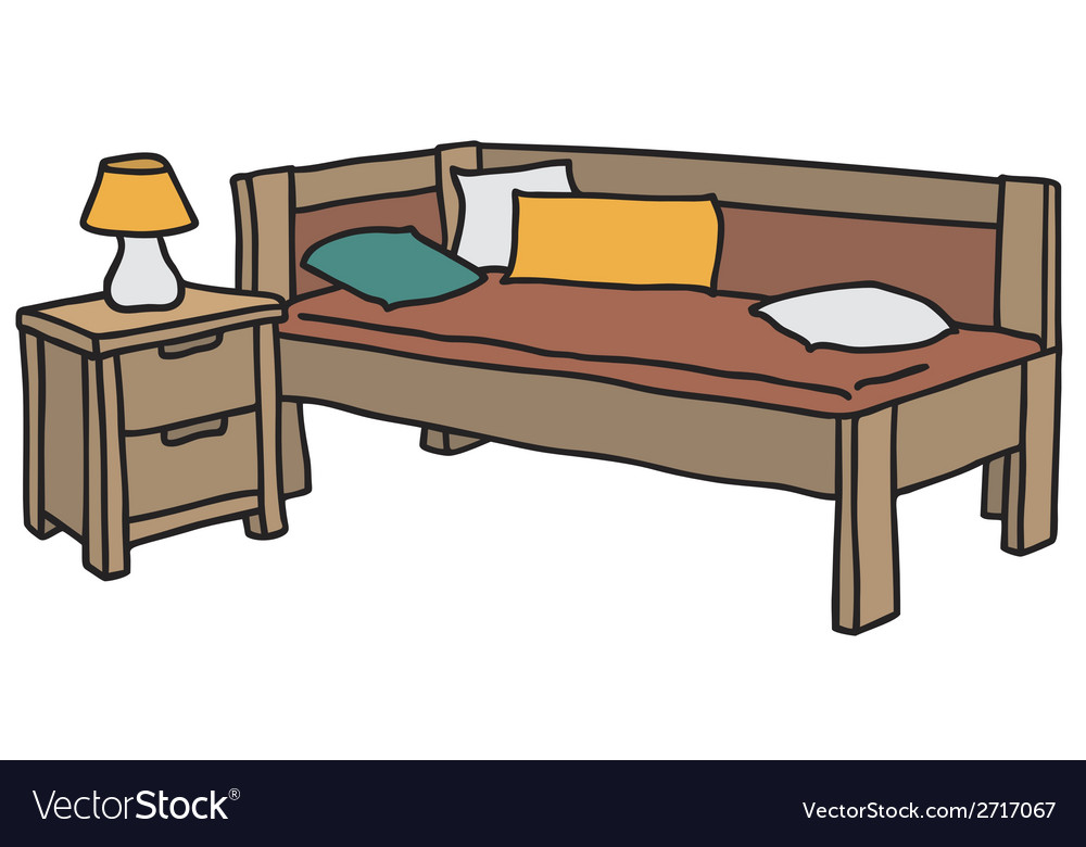 Bed and table vector | Price: 1 Credit (USD $1)