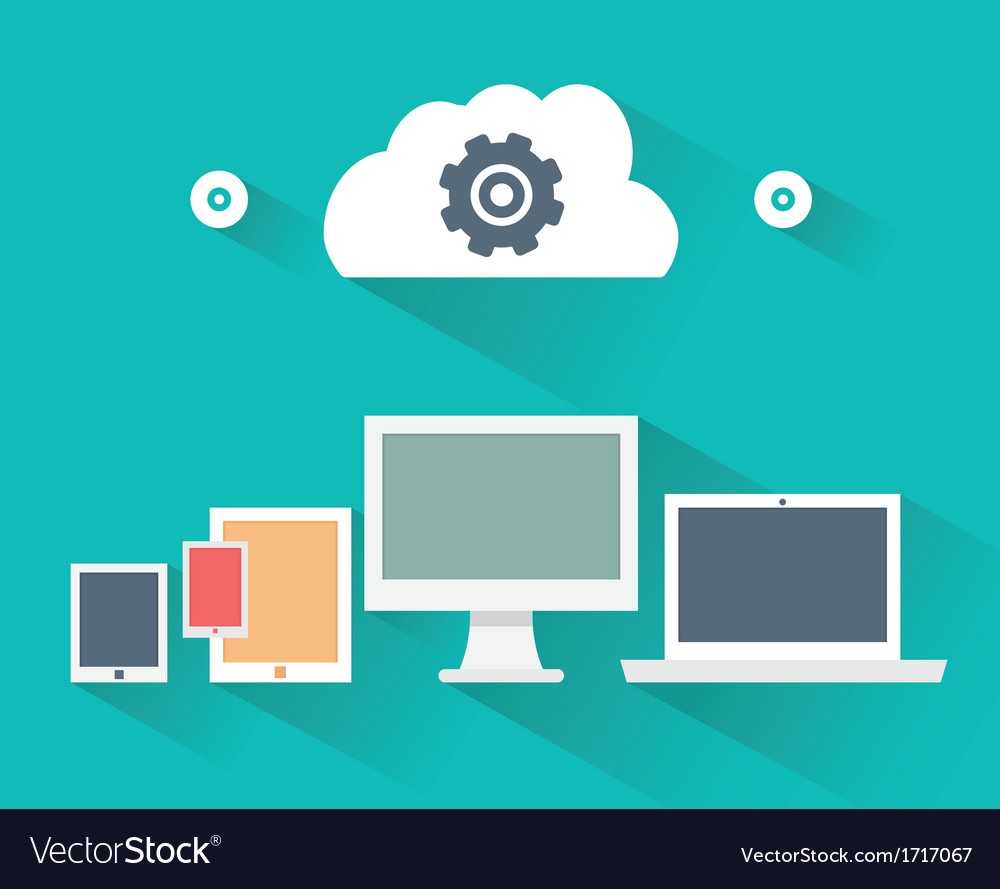 Concept of computer and mobile devices vector | Price: 1 Credit (USD $1)