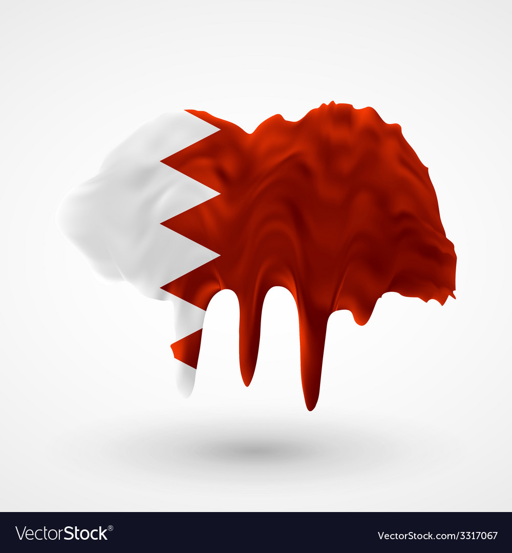 Flag of bahrain painted colors vector | Price: 1 Credit (USD $1)