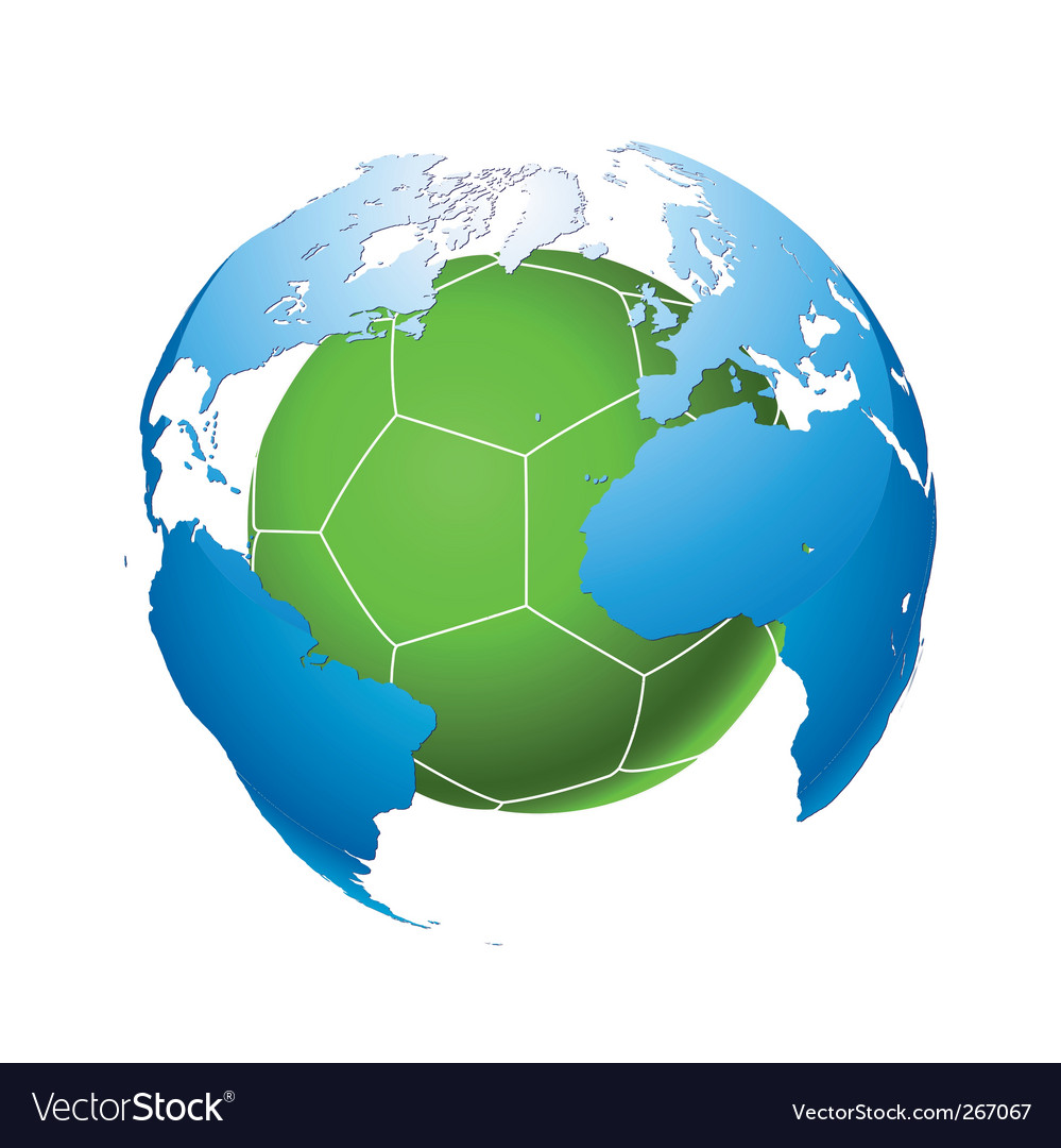 Football planet vector | Price: 1 Credit (USD $1)