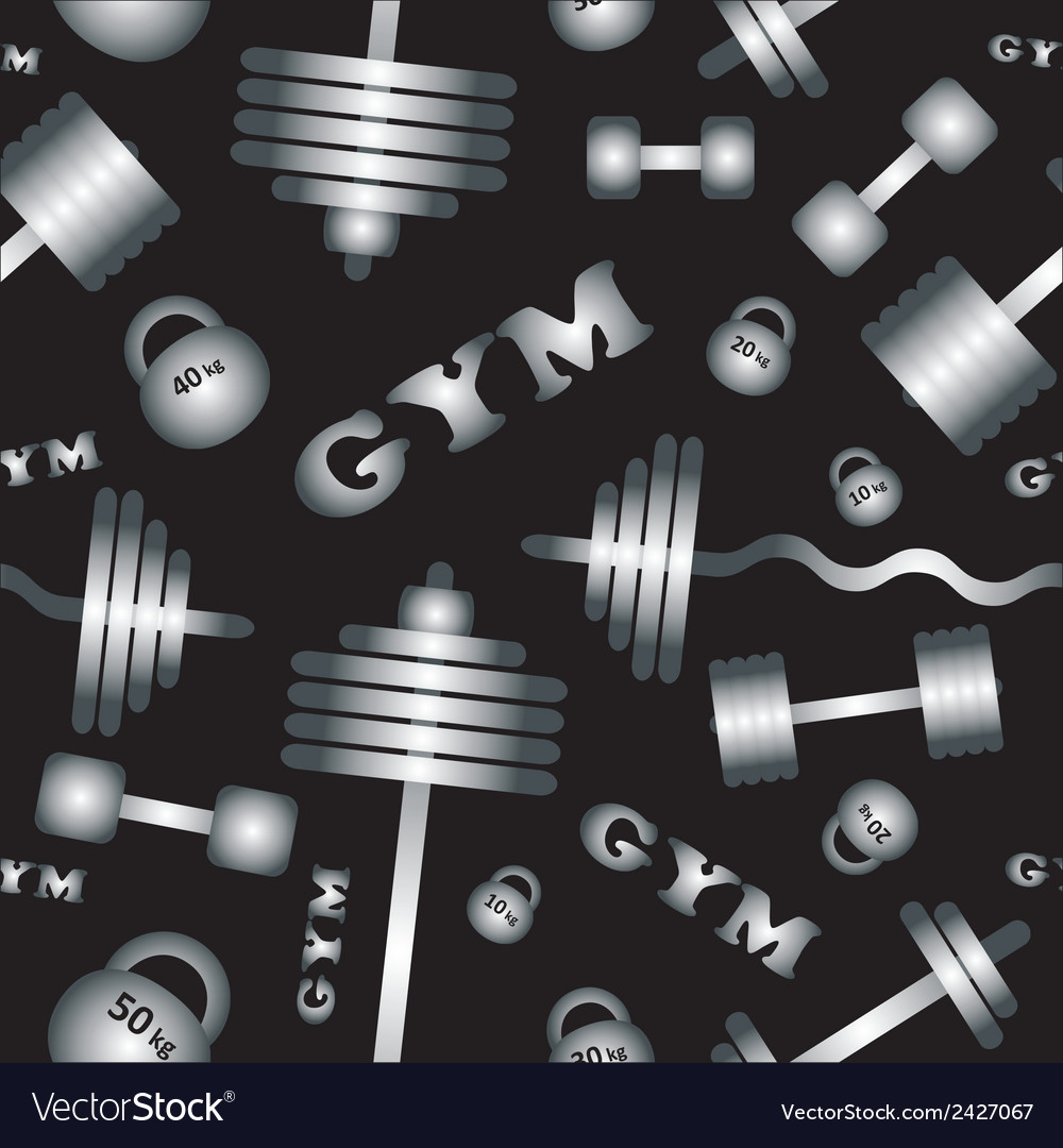 Gym seamless pattern vector | Price: 1 Credit (USD $1)