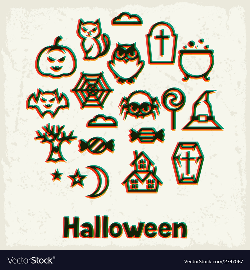 Happy halloween greeting card with effect overlay vector | Price: 1 Credit (USD $1)
