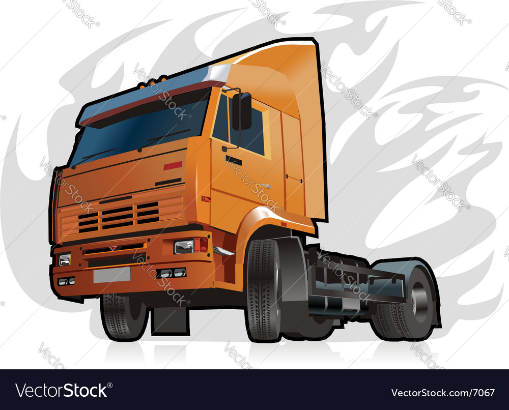 Heavy truck vector | Price: 3 Credit (USD $3)