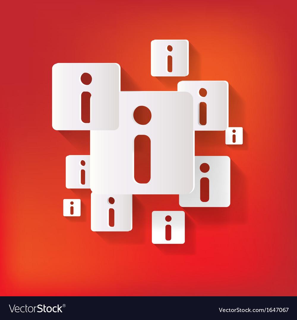 Information web icon vector | Price: 1 Credit (USD $1)