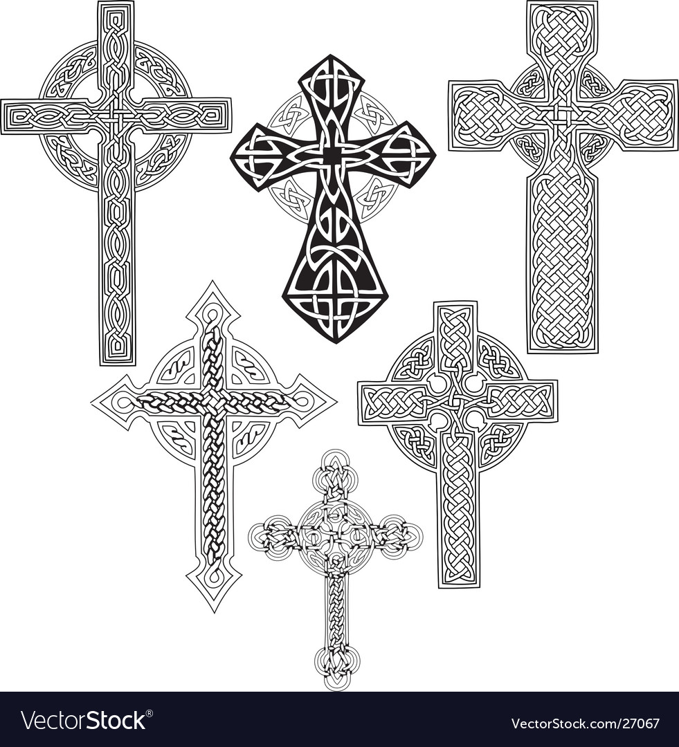 Medieval crosses vector | Price: 1 Credit (USD $1)