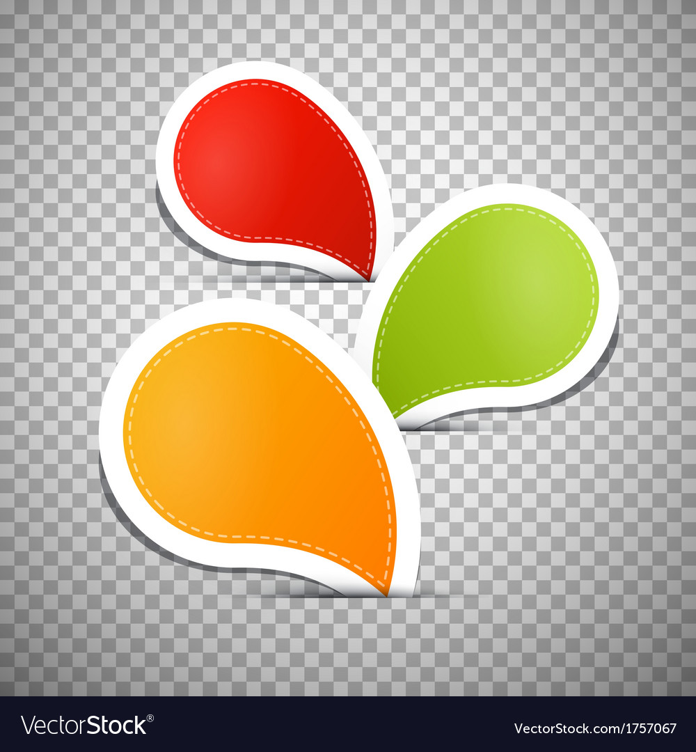 Orange green red empty labels tags vector | Price: 1 Credit (USD $1)