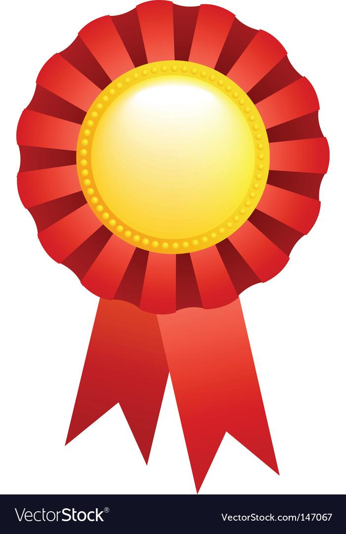 Sport award ribbon vector | Price: 1 Credit (USD $1)