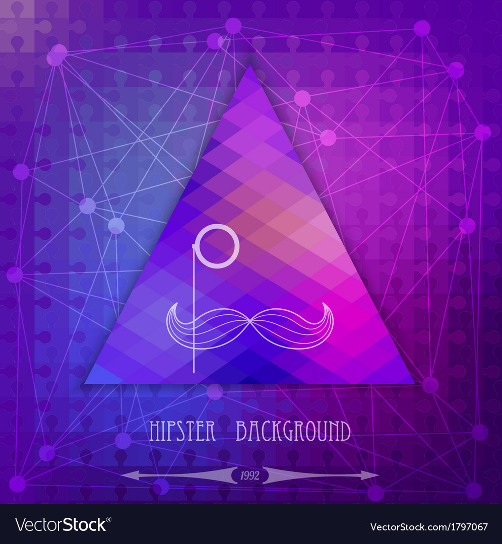 Vintage triangular hipster background vector | Price: 1 Credit (USD $1)