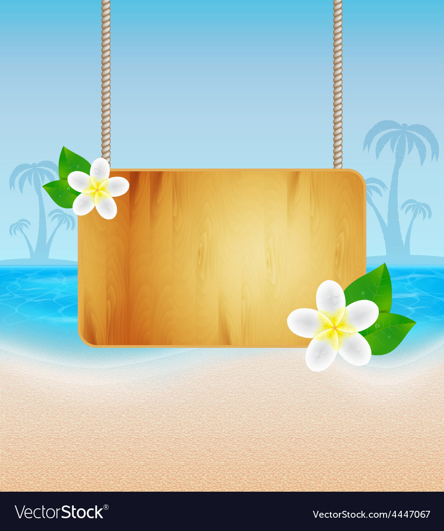 Wood frame on rope vector   Price: 3 Credit (USD $3)