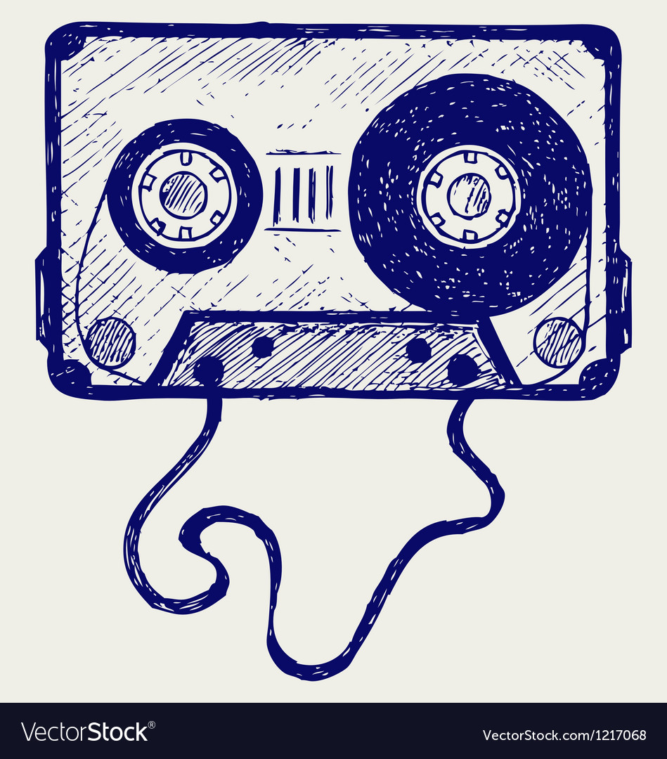 Audio cassette tape vector | Price: 1 Credit (USD $1)