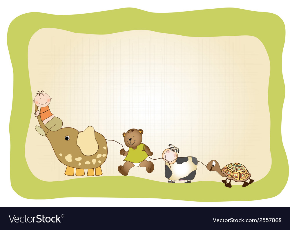 Baby announcement card vector   Price: 1 Credit (USD $1)