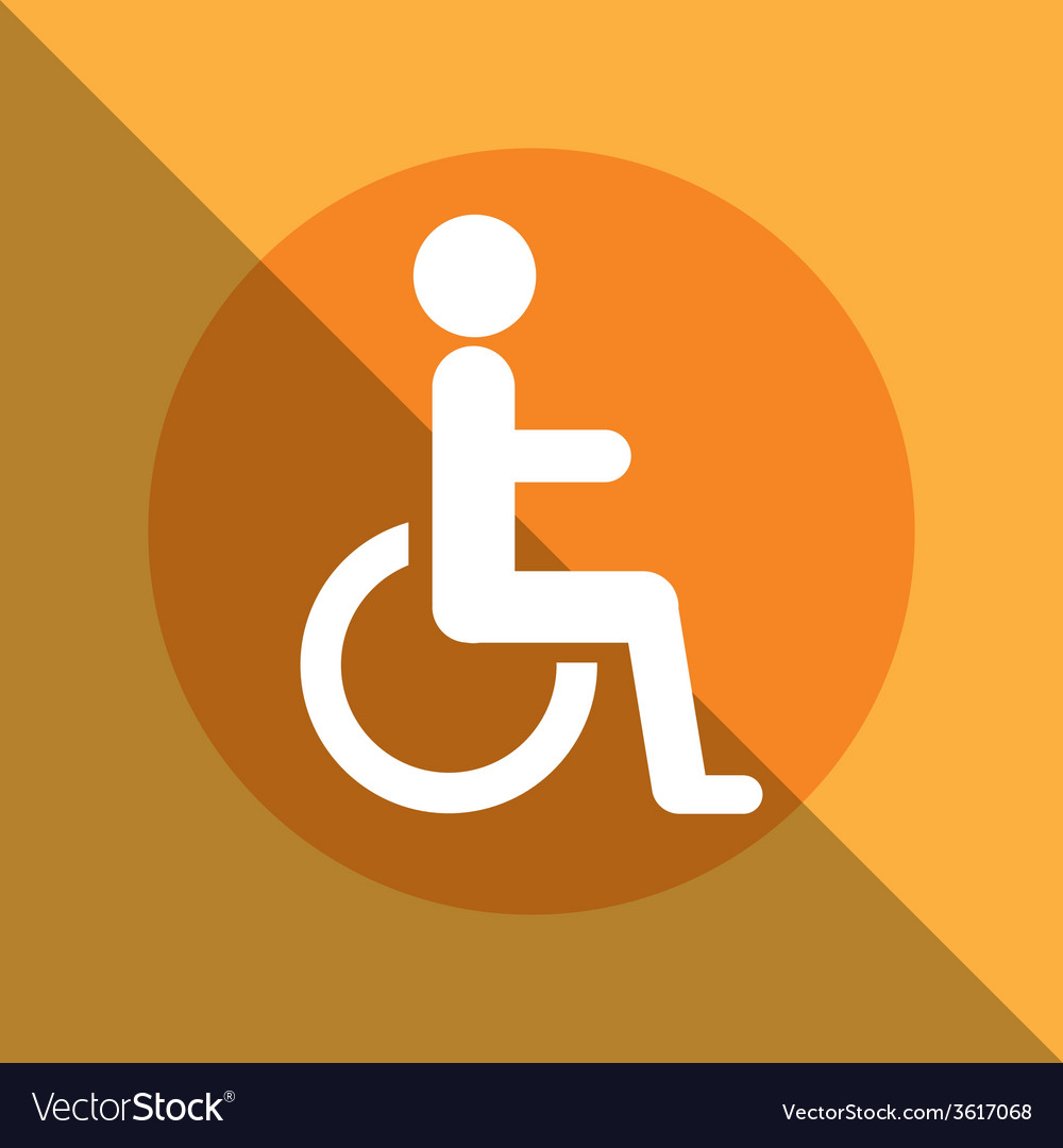 Disabled zone vector | Price: 1 Credit (USD $1)