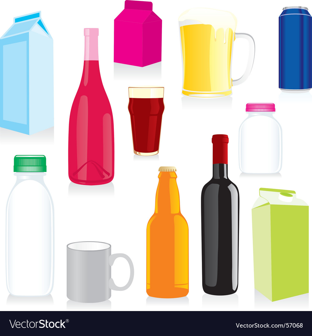 Drink containers vector | Price: 3 Credit (USD $3)