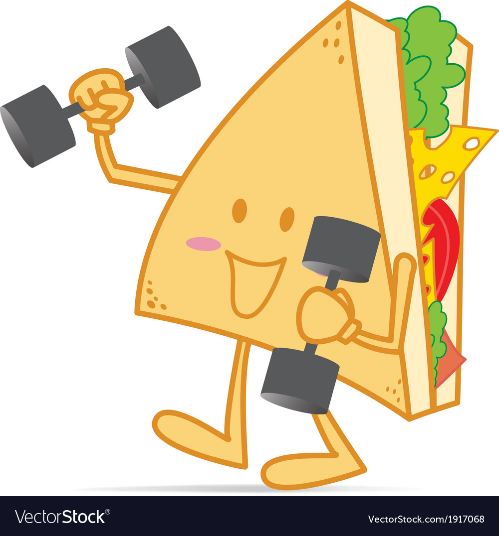 Exercise stronger cute sandwich vector | Price: 1 Credit (USD $1)