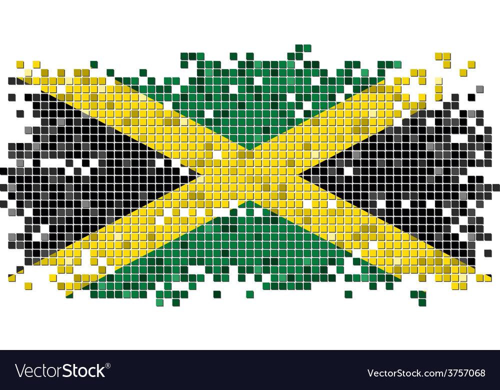 Jamaican grunge tile flag vector   Price: 1 Credit (USD $1)