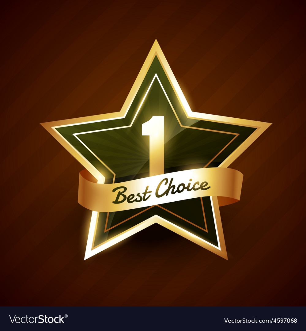 No 1 best choice golden label badge vector | Price: 1 Credit (USD $1)