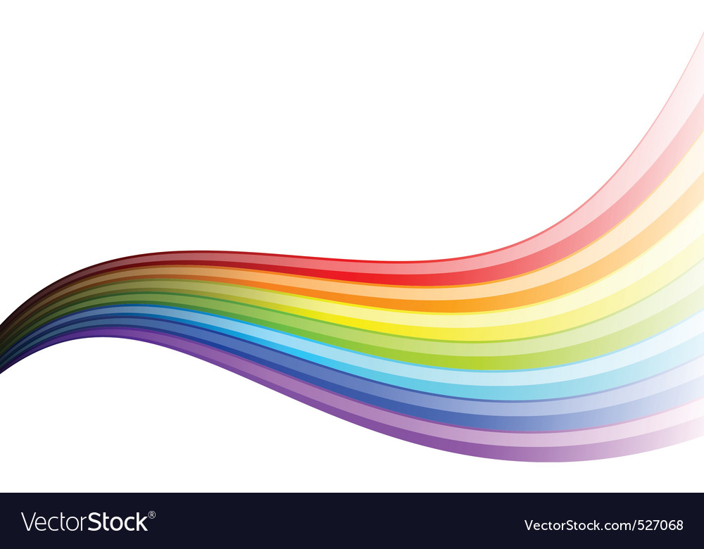 Rainbow wave vector | Price: 1 Credit (USD $1)