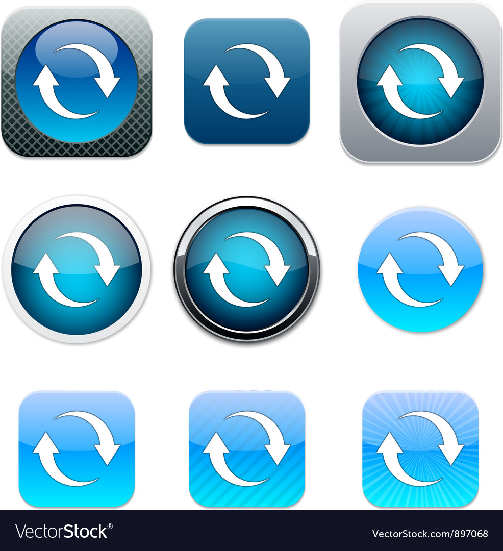 Refresh blue app icons vector | Price: 1 Credit (USD $1)