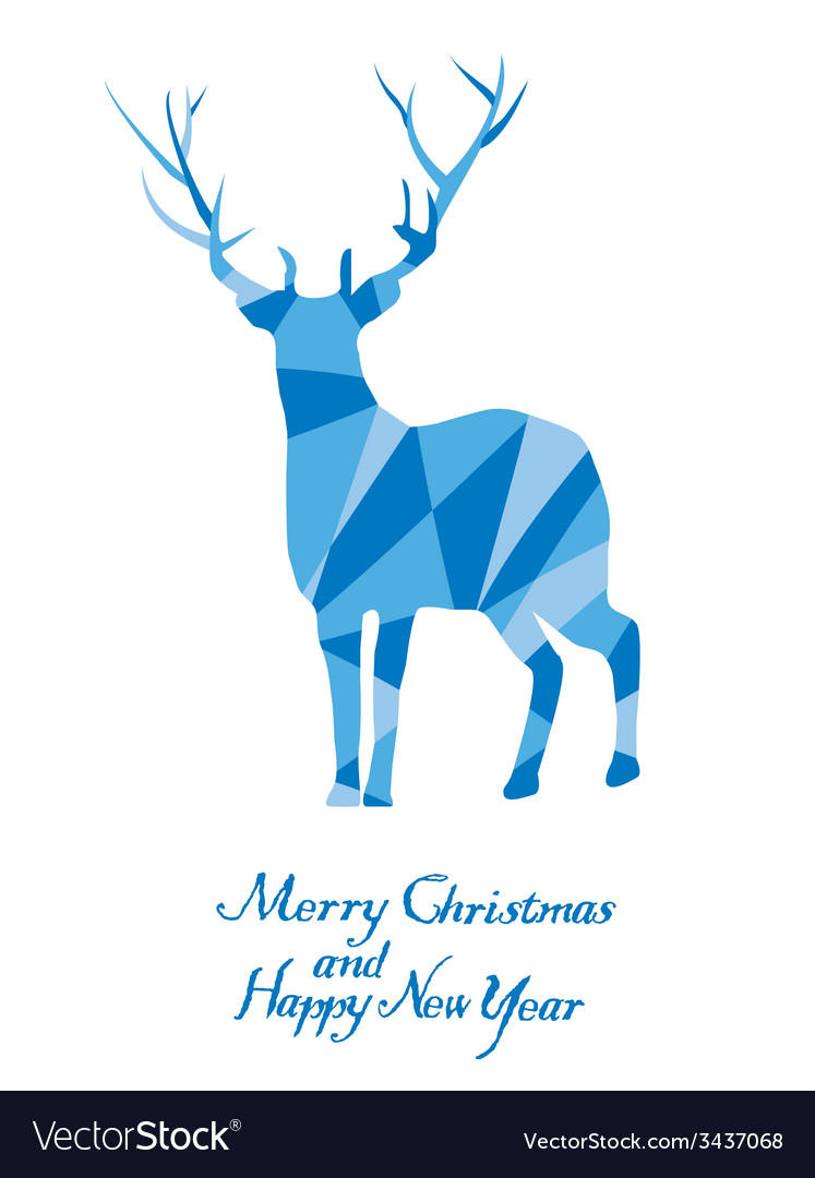 Reindeer mosaic vector | Price: 1 Credit (USD $1)