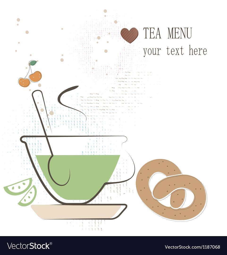Tea menu vector | Price: 1 Credit (USD $1)