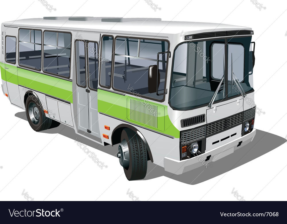 Urban suburban mini-bus vector | Price: 5 Credit (USD $5)