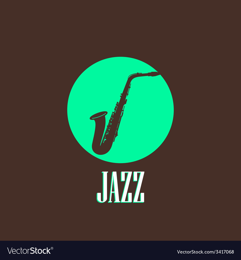With a saxophone vector | Price: 1 Credit (USD $1)