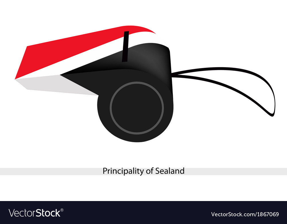 A whistle of the principality of sealand vector | Price: 1 Credit (USD $1)