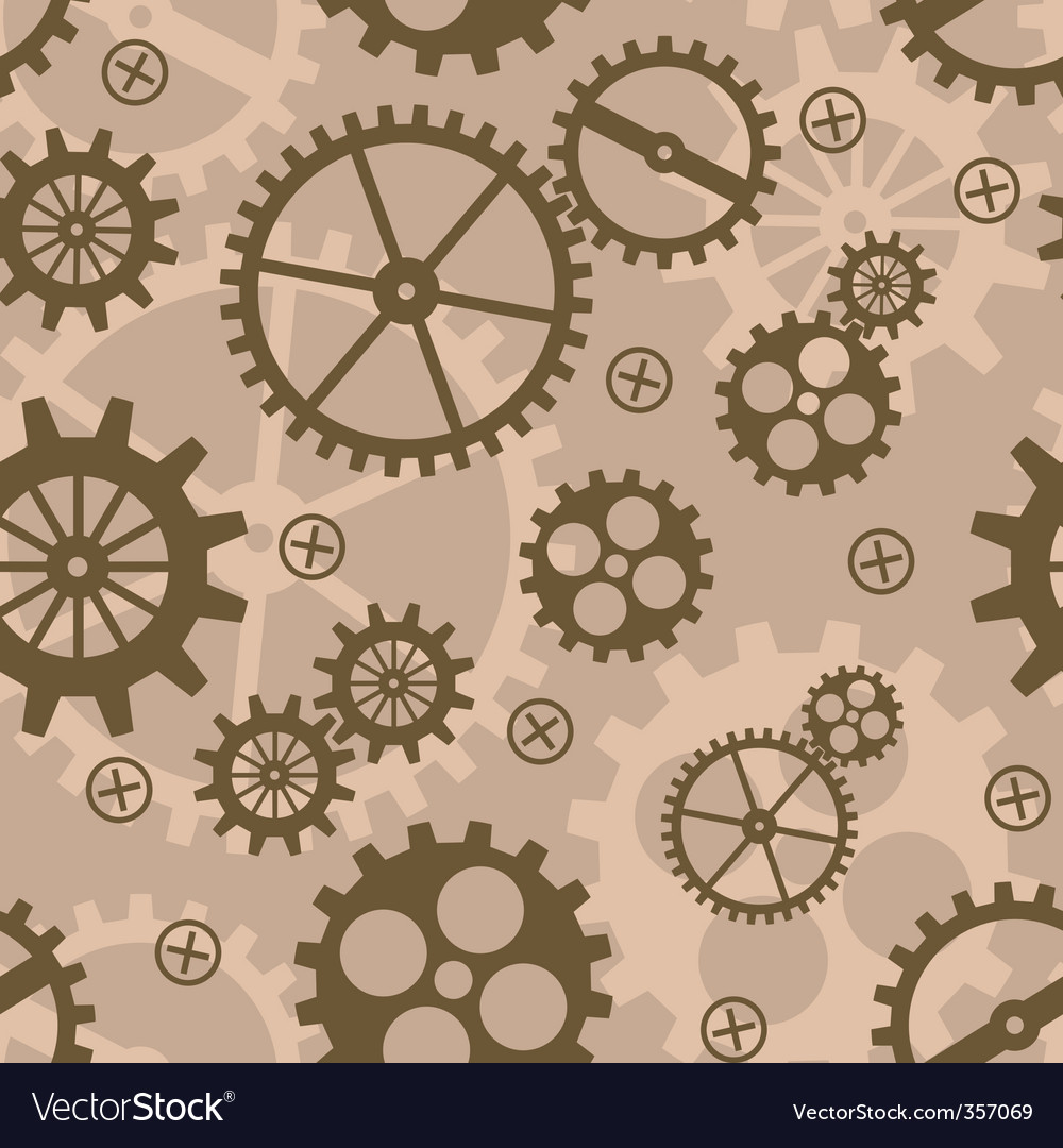 Abstract background with mechanism cogs vector | Price: 1 Credit (USD $1)