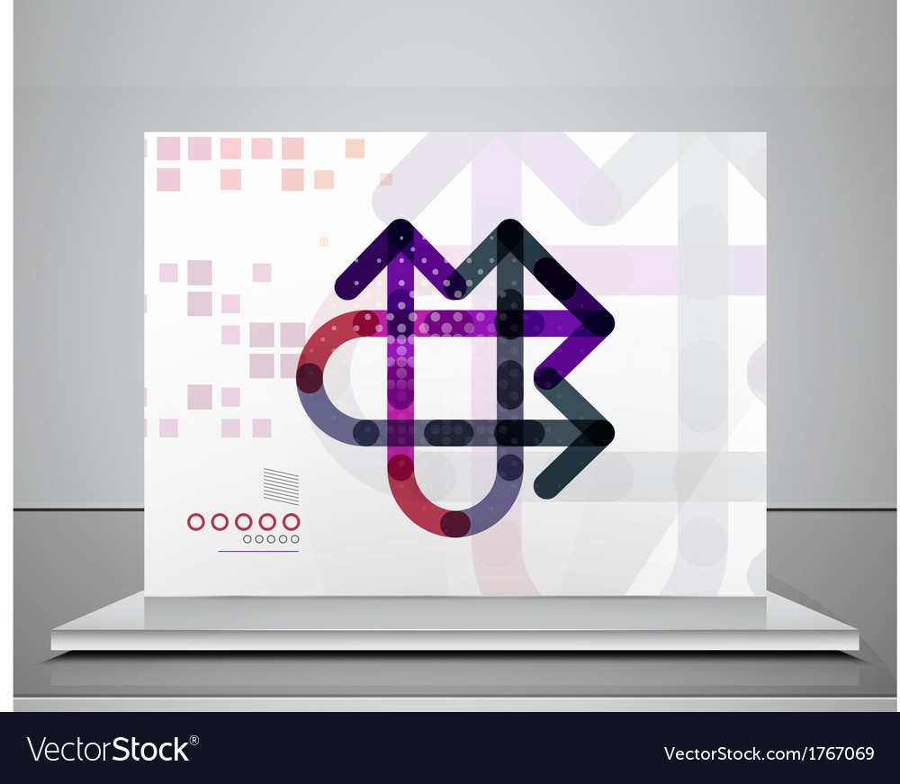 Arrow background abstract geometric template vector | Price: 1 Credit (USD $1)