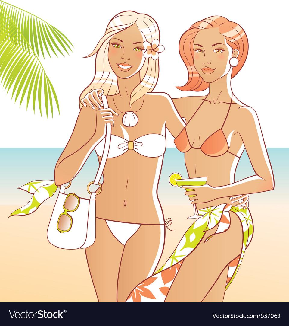 Beach girls vector   Price: 1 Credit (USD $1)