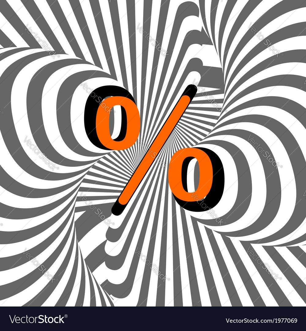 Design percentage sign vector | Price: 1 Credit (USD $1)